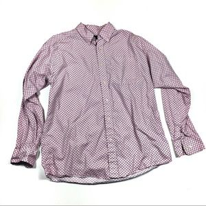 Ariat Large Mens Pink Button Front Ling Sleeve Top